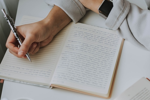 Devojka zapisuje u dnevnik