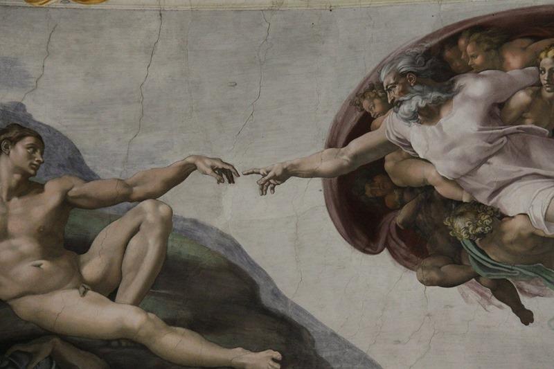 Stvaranje Adama (ital. Creazione di Adamo), Michaelangelo Buonaroti; deo svoda Sikstinske kapele